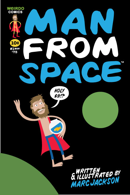 MANFROMSPACE COMIC COVER