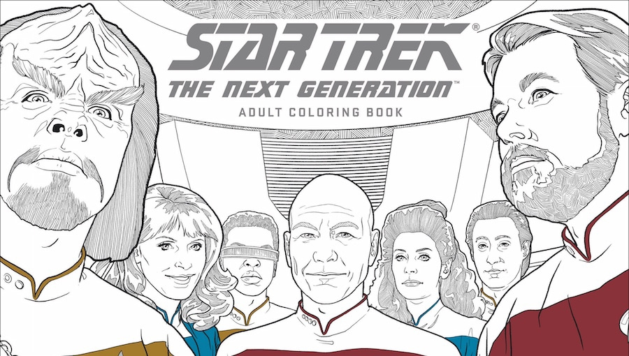c2e2 exclusive dark horse comics announces new star trek second volume adult coloring - Star Trek Coloring Book