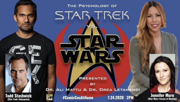 SDCC 2020: The Psychology of 'Star Trek' vs. 'Star Wars' - Panel Coverage