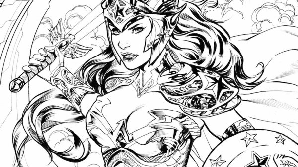 Wonder Woman Wednesday: The Wonder Woman Coloring Book - The Black and White of It